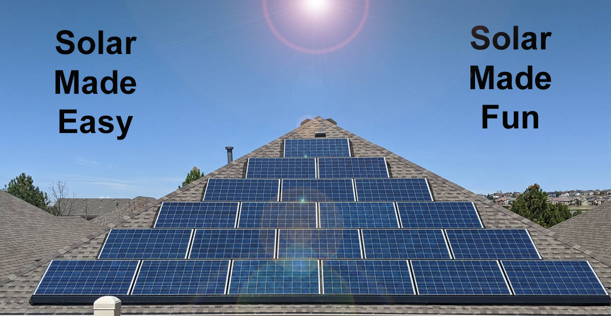 Owning Solar Power is easy, fun and where the $mart money goes!